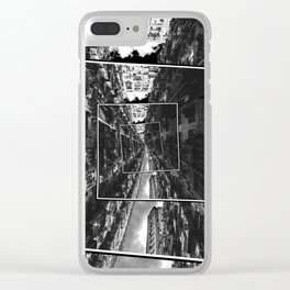 Spinning City Clear iPhone Case
