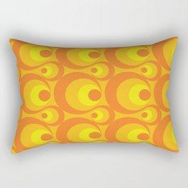 Crazy Orange Circles Rectangular Pillow