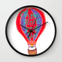 """""""Oh the Places You'll Go"""" – Balloon plus Lettering Wall Clock"""