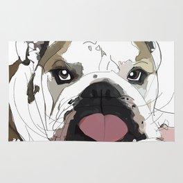 English Bulldog Love Rug