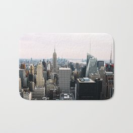 New York skyline from Top of the Rock Bath Mat