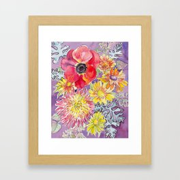 Mum and Poppy Framed Art Print