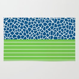 staklo (blue with green) Rug