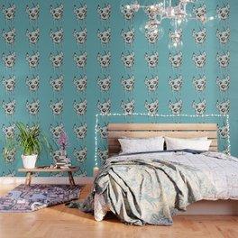 Anton, light blue Wallpaper