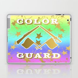 Color Guard Rainbow and Gold Stars Design Laptop & iPad Skin