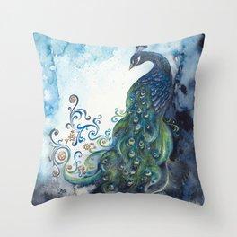 Clockwork Elegance Throw Pillow