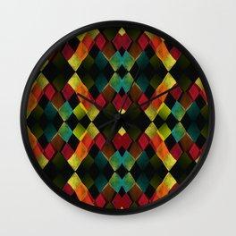 RAUTE BLACK Wall Clock
