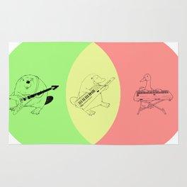 Keytar Platypus Venn Diagram - GYR Rug