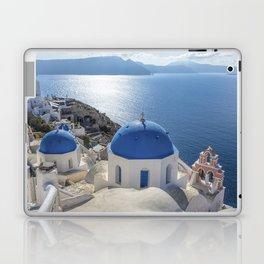 Santorini Island with churches and sea view in Greece Laptop & iPad Skin