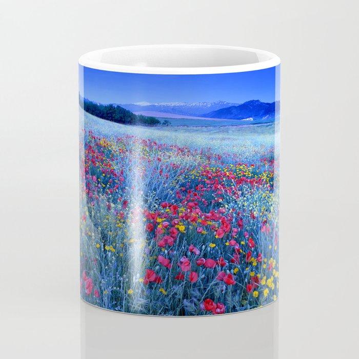Spring poppies at blue hour Coffee Mug