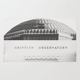 Griffith Observatory - Black and White version Rug