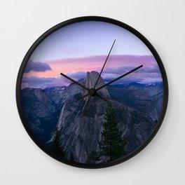 Yosemite National Park at Sunset Wall Clock