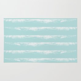 Irregular Stripes Mint Rug