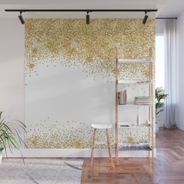 Sparkling golden glitter confetti effect Wall Mural