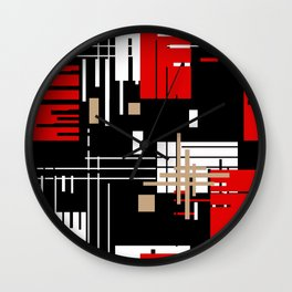 Abstract pattern Retro 2 Wall Clock
