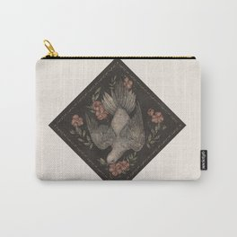 Dove and Flowers Carry-All Pouch