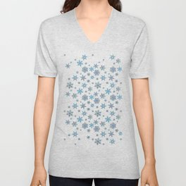 """""""Embroidered"""" Snowflakes Unisex V-Neck"""