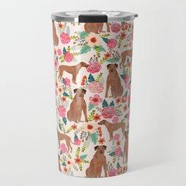 Rhodesian Ridgeback floral dog breed gifts pure breed must have dog pattern Travel Mug