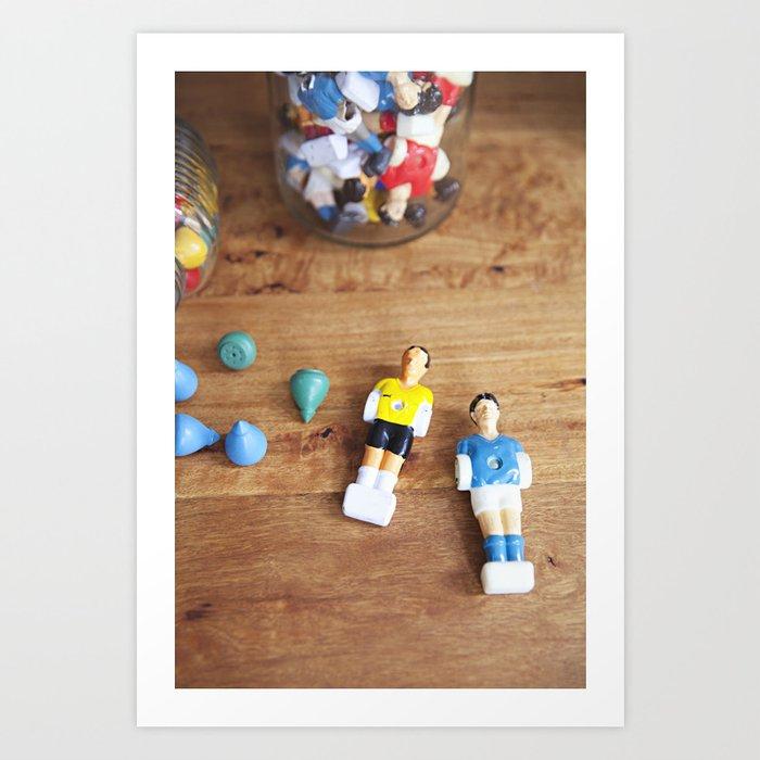 vintage toys - foosball Art Print by nataliejeffcott | Society6