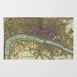 Vintage Map of London England (1740) Rug