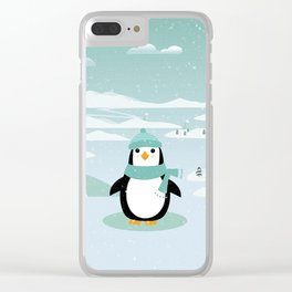AFE Winter Penguin Clear iPhone Case