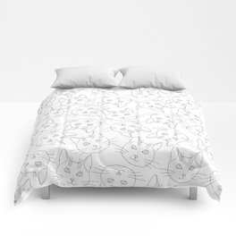 Hello Cats // Lots of Cats Comforters
