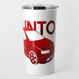 Fiat Punto - classic red - Travel Mug