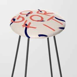 GO FOR IT #society6 #motivational Counter Stool