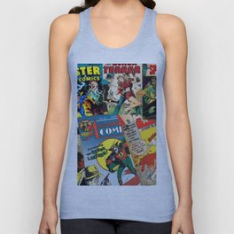 Comics Collage Unisex Tank Top