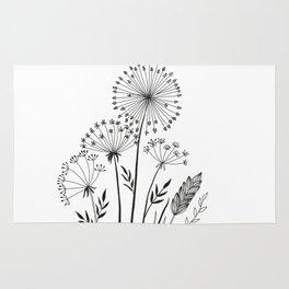 Doodle herbals Rug