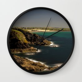 Trevose Head to Constantine Bay, Cornwall, UK Wall Clock