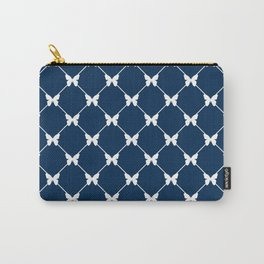 Blue photons with butterflies Carry-All Pouch