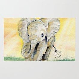 Colorful Baby Elephant Rug