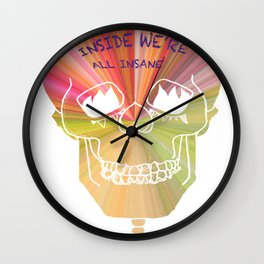 Mirror Reflection. Wall Clock