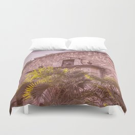 Palm Tree Summer - The Alamo Duvet Cover
