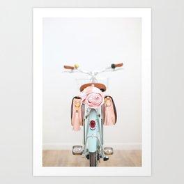 Bike Bags Art Print
