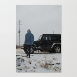 Snow in the Fall Canvas Print