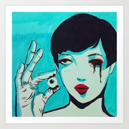 Migraines Art Print