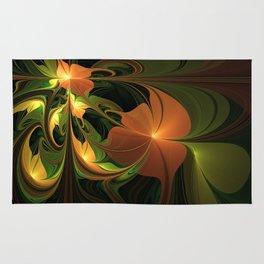 Fantasy Plant, Abstract Fractal Art Rug