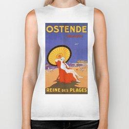 Ostend Queen of beaches jazz age Biker Tank