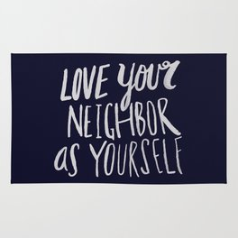Love Your Neighbor x Navy Rug
