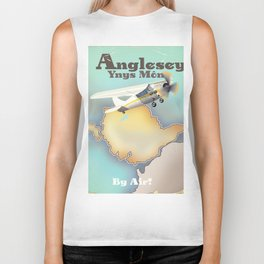 Anglesey Vintage style travel poster. Biker Tank