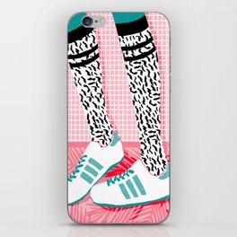 Aiight - sports fashion retro throwback style 1980s neon palm springs socal country club hipster iPhone Skin