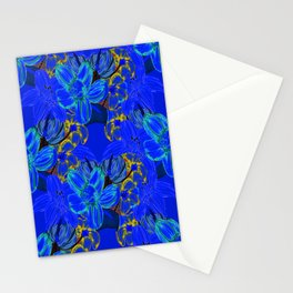 JUST BEES AND THINGS AND FLOWERS BLUE Stationery Cards