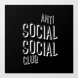 Anti Social Social Club Canvas Print