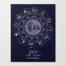 Lunar Calendar 2017 Canvas Print