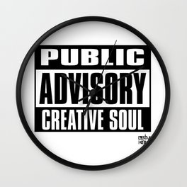 Creative Soul Wall Clock