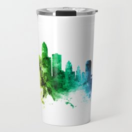 Des Moines Iowa Skyline Travel Mug
