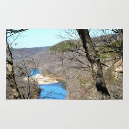 Clmbing Up Sparrowhawk Mountain above the Illinois River, No. 2 of 8 Rug