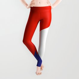 Triangles Retro Pop Art Abstract - Red White Blue Series Leggings
